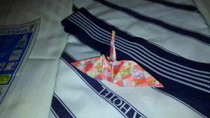 浴衣の折り鶴